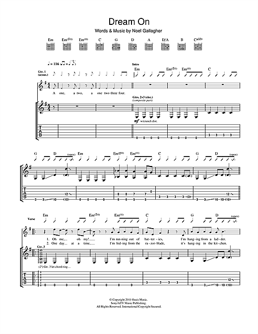 Dream On (Guitar Tab)