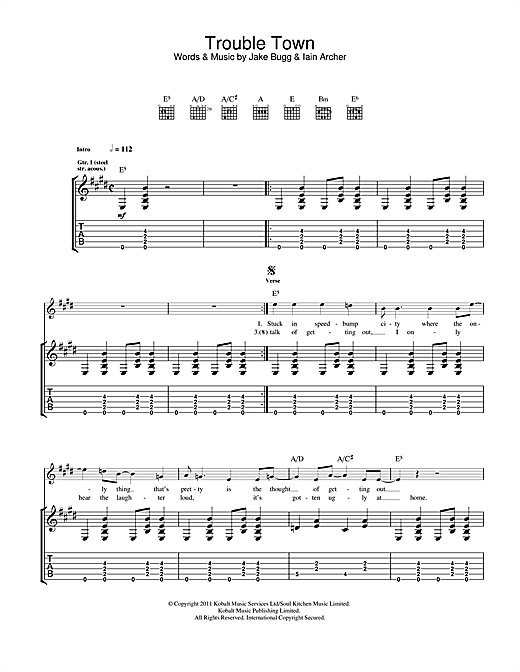 Trouble Town Sheet Music