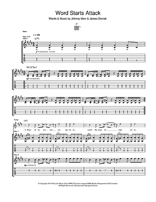 Word Starts Attack Sheet Music