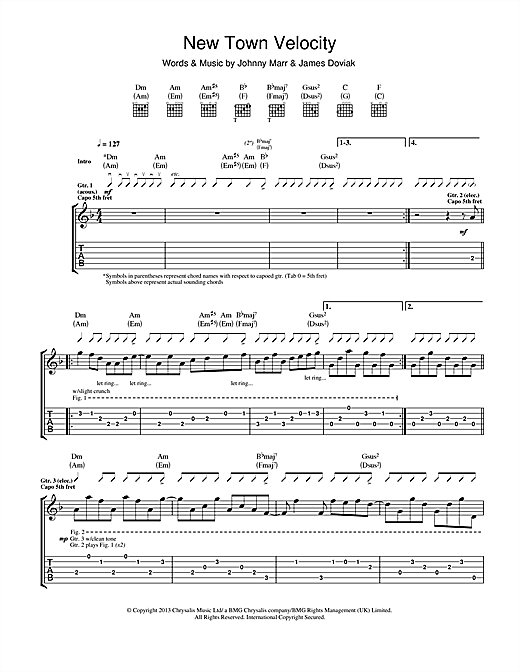 New Town Velocity Sheet Music