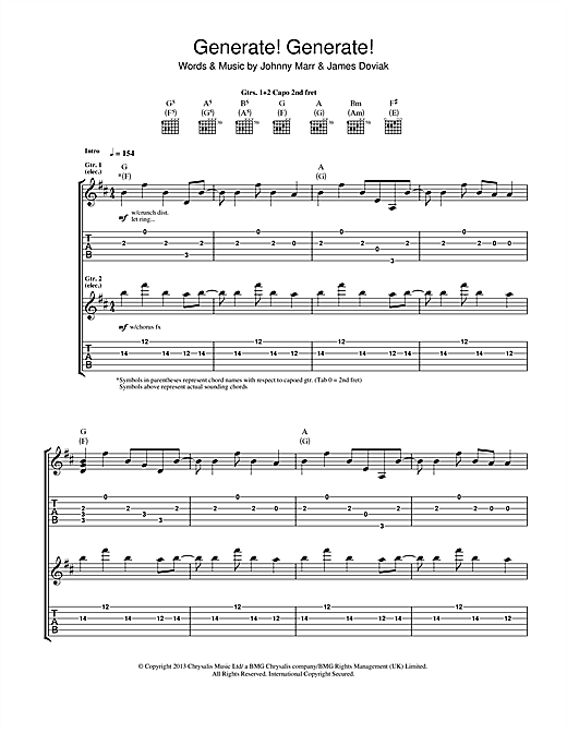 Generate! Generate! Sheet Music