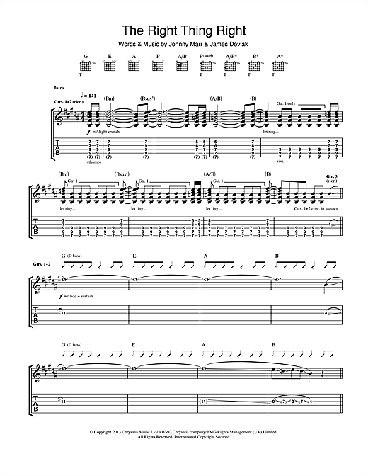 The Right Thing Right Sheet Music