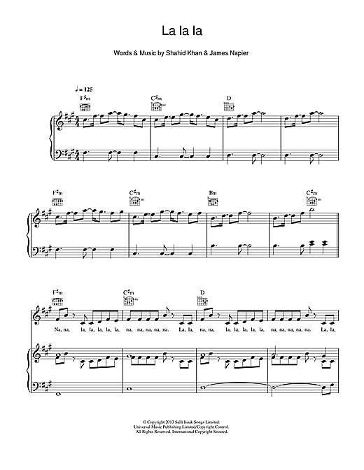 La La La (feat. Sam Smith) Sheet Music