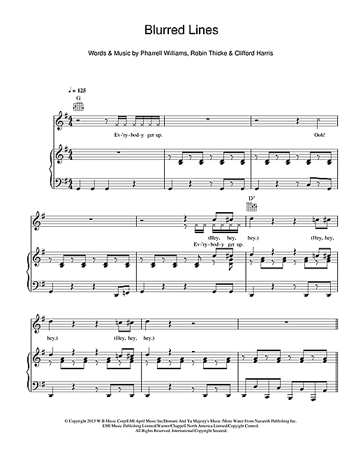 Blurred Lines Sheet Music