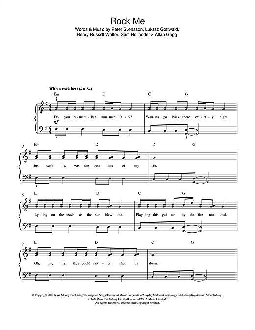 Rock Me Sheet Music