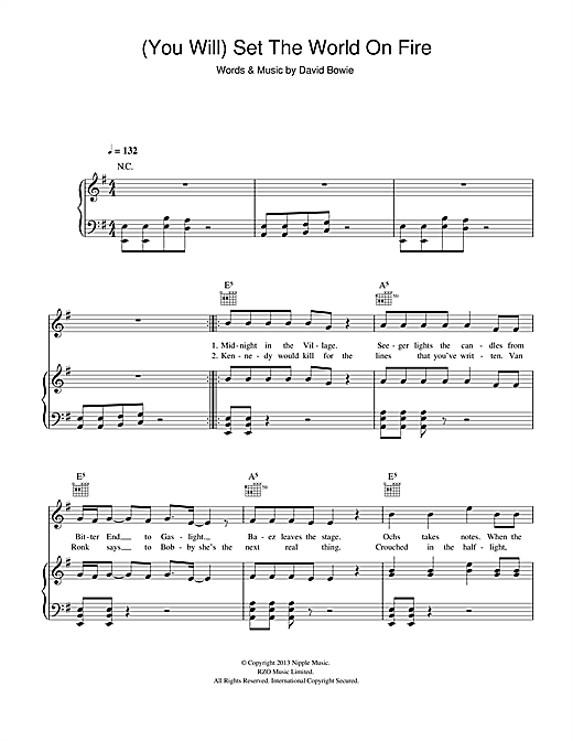 (You Will) Set The World On Fire Sheet Music