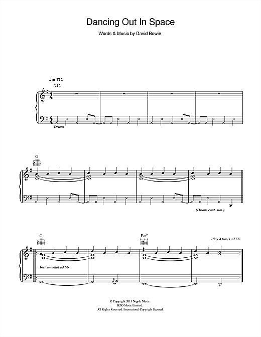 page one of Dancing Out In SpaceASALTTEXT
