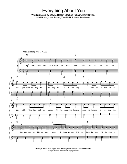 Everything About You Sheet Music