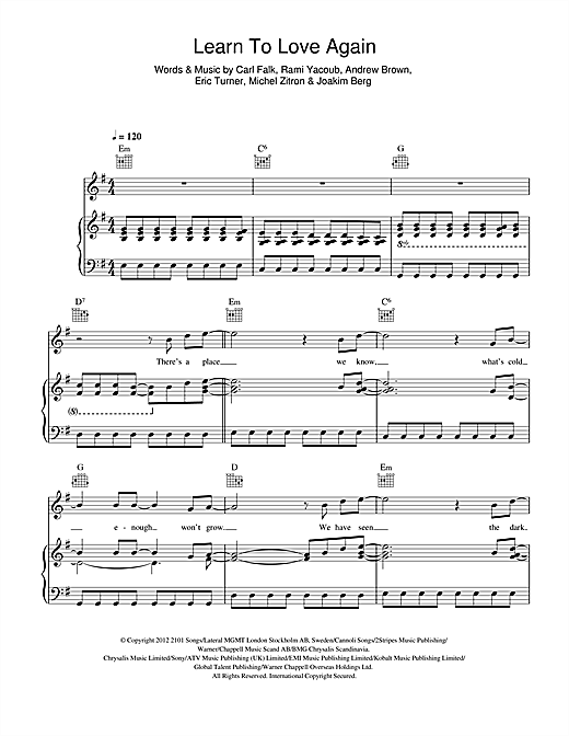 Learn To Love Again Sheet Music