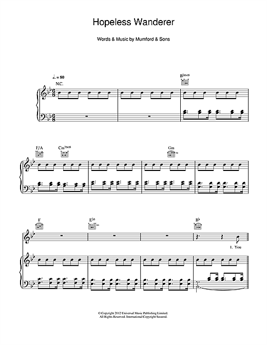 Hopeless Wanderer Sheet Music