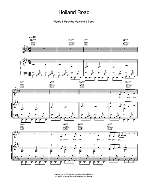 Holland Road Sheet Music