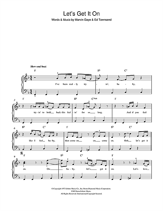 Let's Get It On Sheet Music