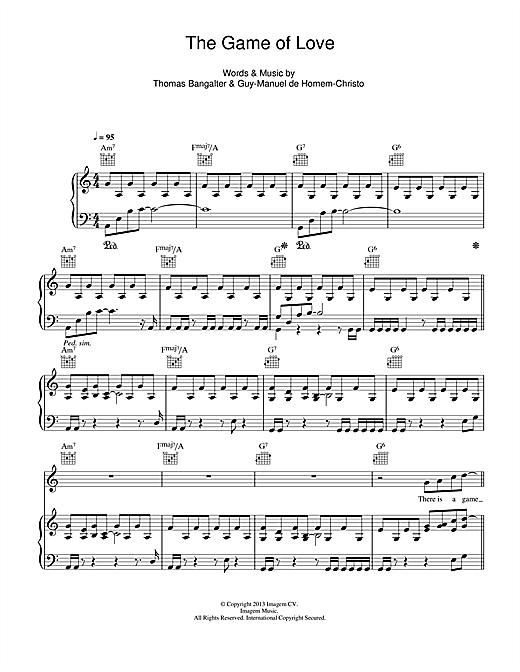 The Game Of Love Sheet Music