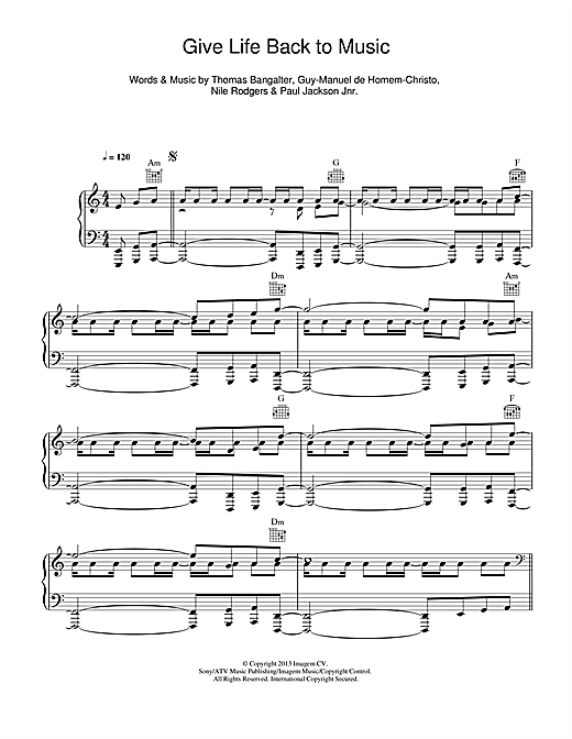 page one of Give Life Back To MusicASALTTEXT