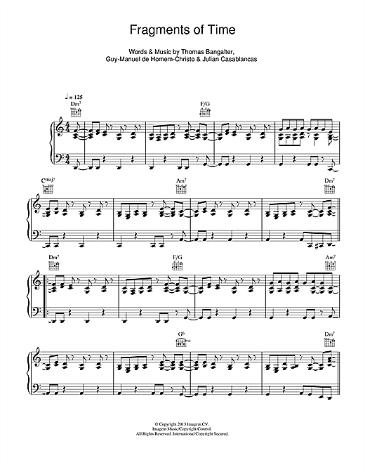 Fragments Of Time Sheet Music