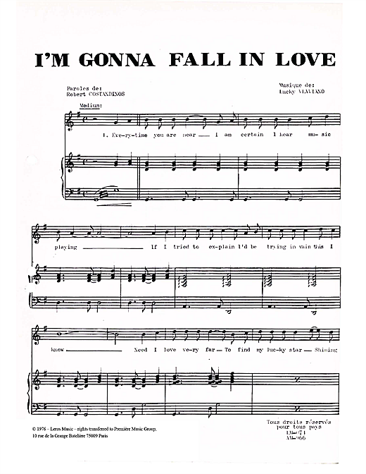 I'm Gonna Fall In Love Sheet Music