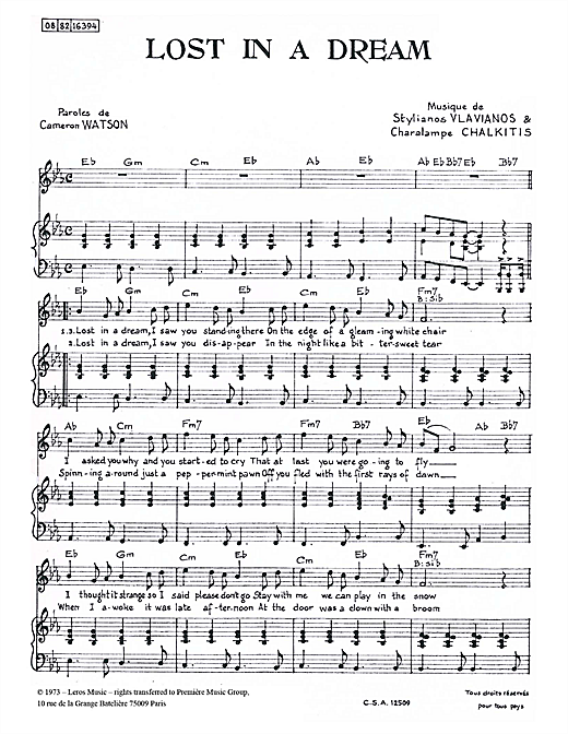 Lost In A Dream Sheet Music