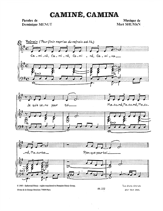Camine Camina Sheet Music