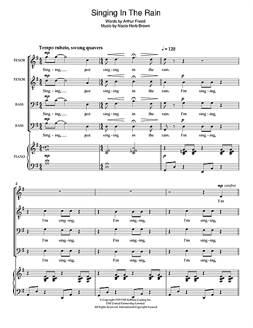 Singin' In The Rain (arr. Craig McLeish) Sheet Music