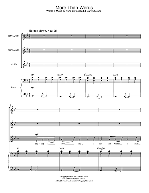 More Than Words (arr. Peter Foggitt) Sheet Music