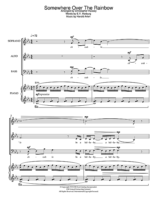 Over The Rainbow (from 'The Wizard Of Oz') Sheet Music