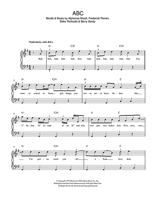 ABC Sheet Music