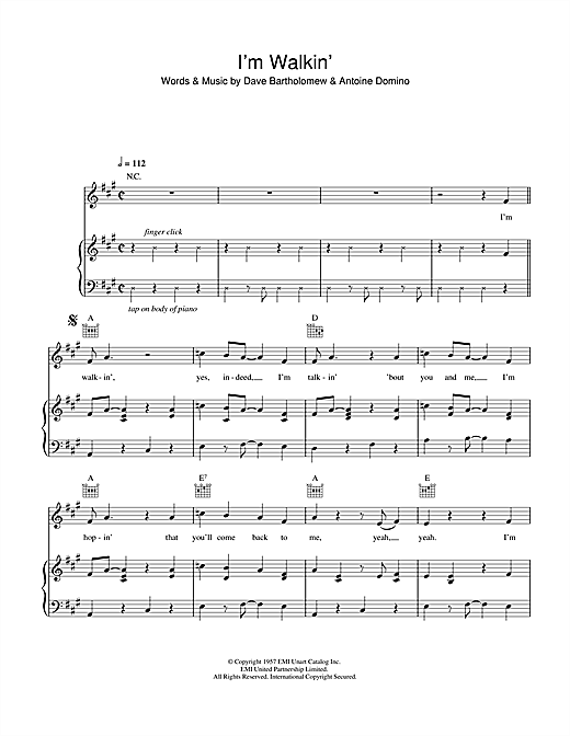 I'm Walkin' Sheet Music
