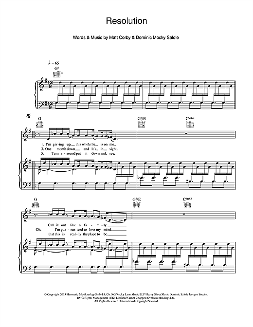 Resolution Sheet Music