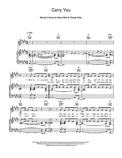 Carry You Sheet Music