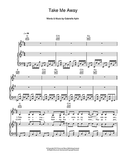 Take Me Away Sheet Music