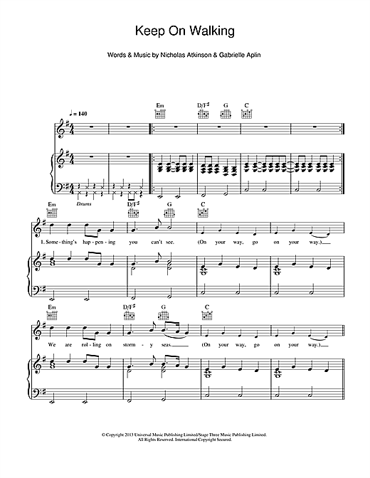 Keep On Walking Sheet Music