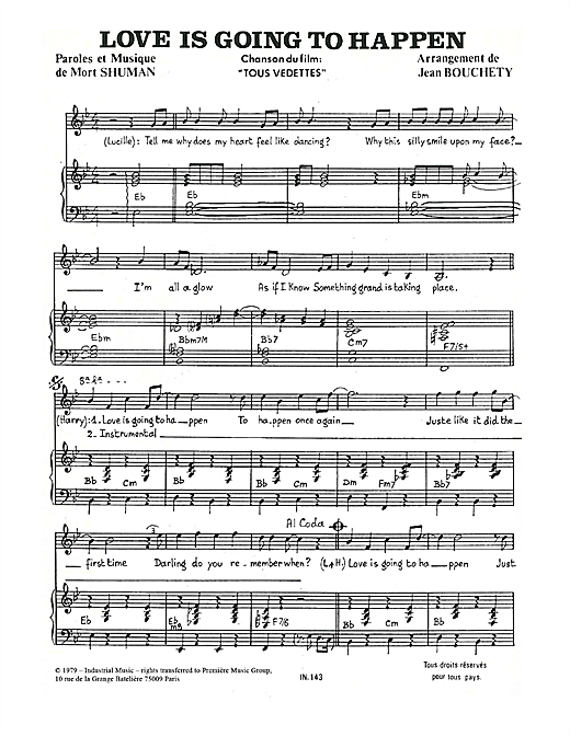 Love Is Going To Happen Sheet Music