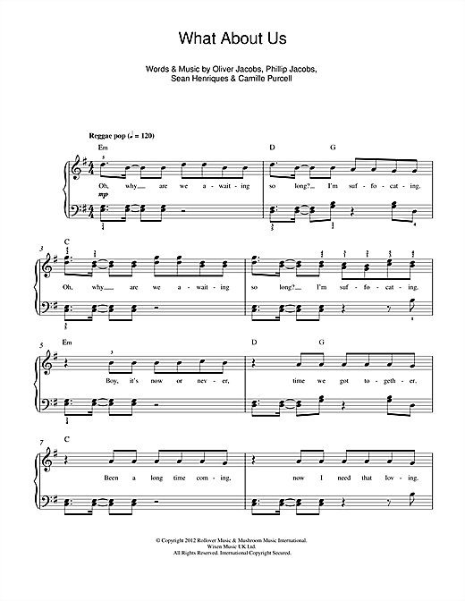 What About Us (feat. Sean Paul) Sheet Music