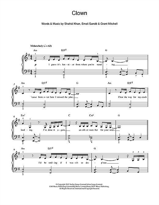 Clown Sheet Music