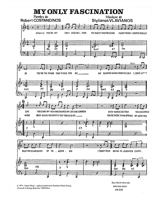 My Only Fascination Sheet Music