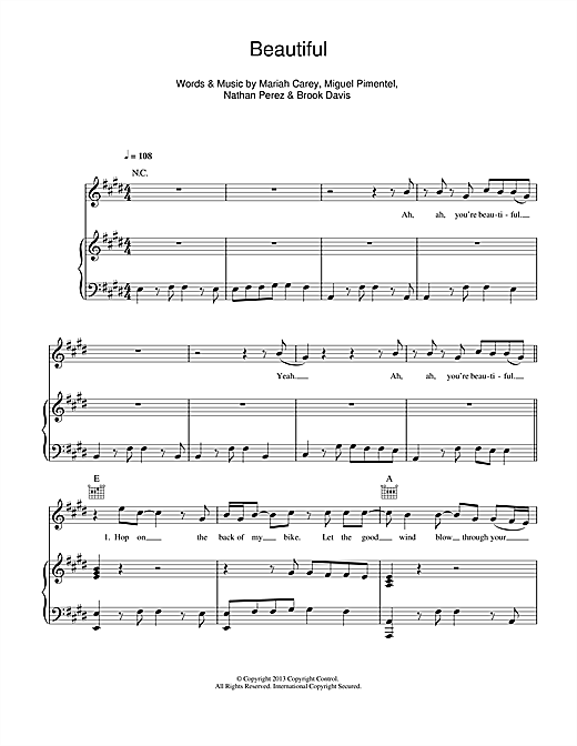 Beautiful (feat. Miguel) Sheet Music