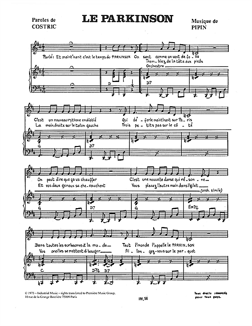 Le Parkinson Sheet Music