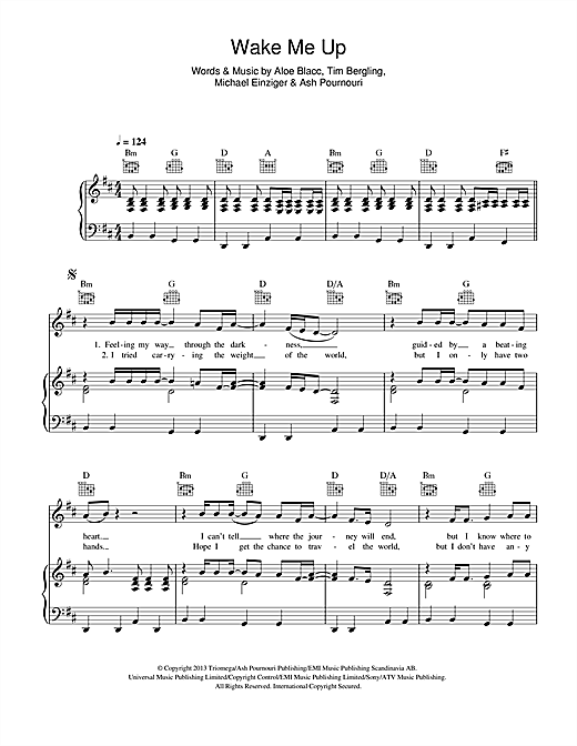 Wake Me Up Sheet Music