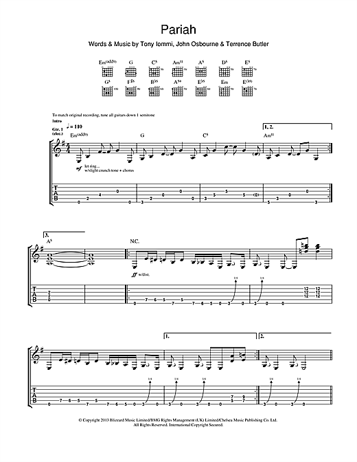 Pariah Sheet Music
