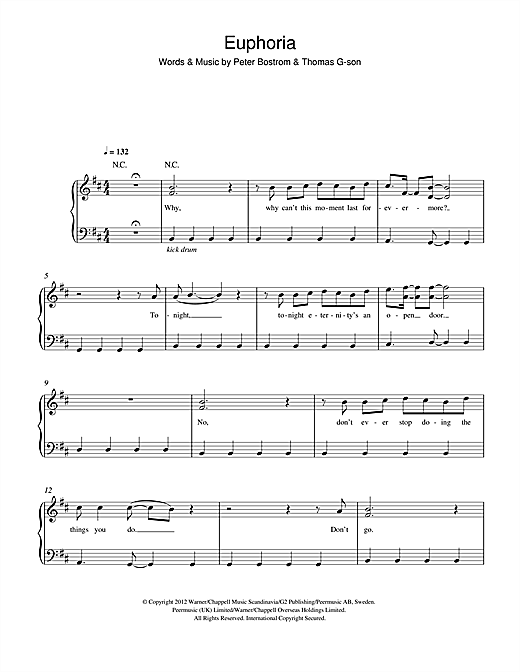 Euphoria Sheet Music