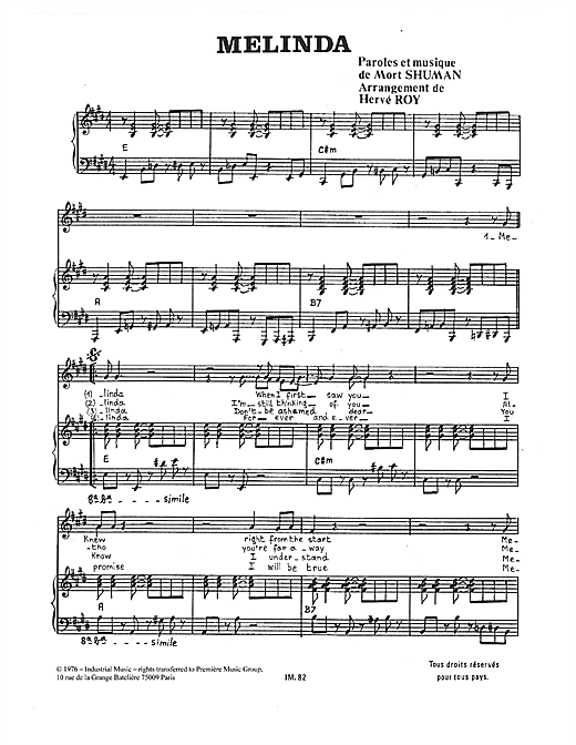 Melinda Sheet Music