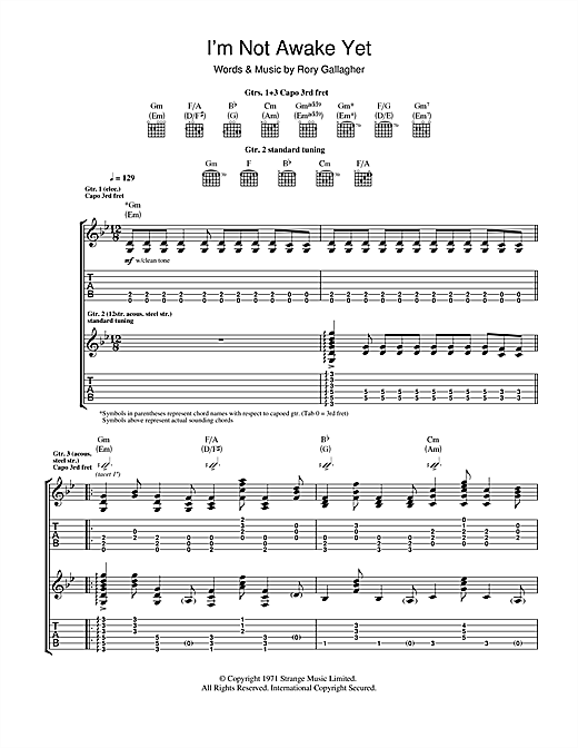 I'm Not Awake Yet Sheet Music
