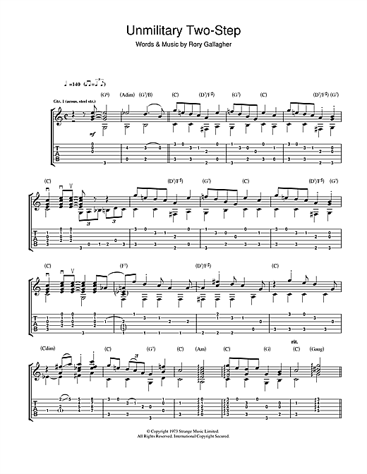 Unmilitary Two Step Sheet Music