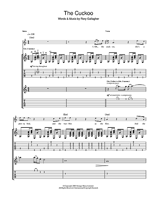 The Cuckoo Sheet Music