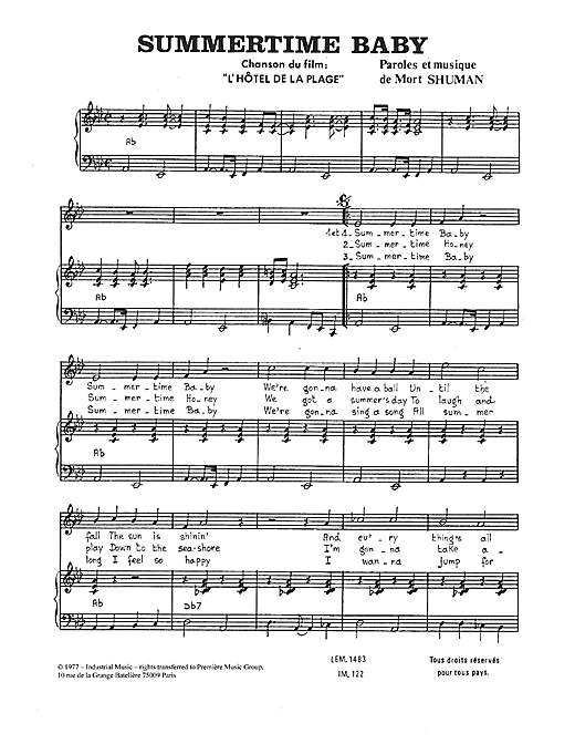Summertime Baby Sheet Music