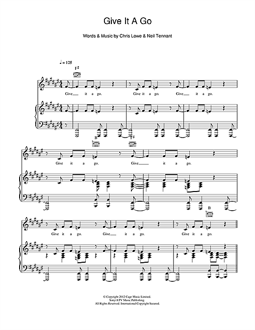 Give It A Go Sheet Music
