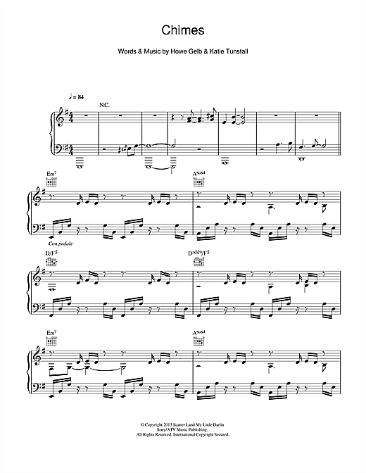 Chimes Sheet Music