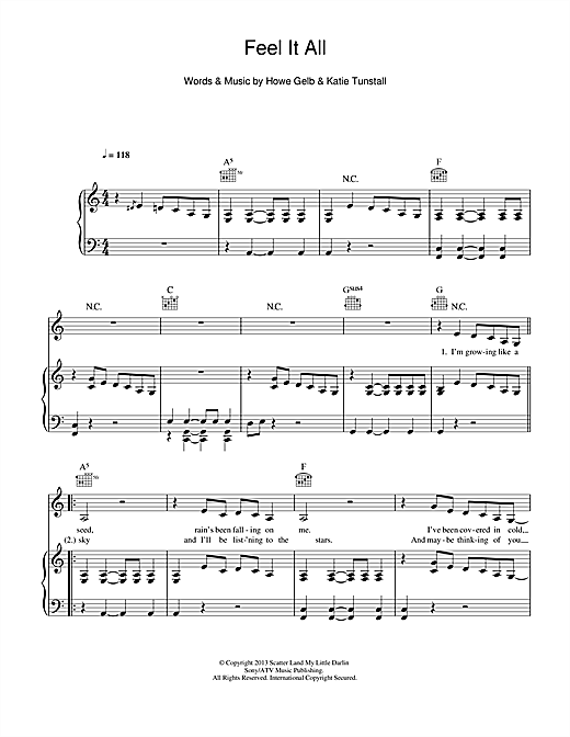 Feel It All Sheet Music