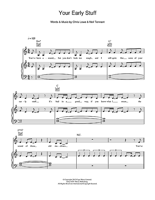 Your Early Stuff Sheet Music
