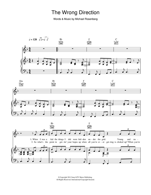 The Wrong Direction Sheet Music